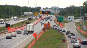 Quebec looks to build network of reserved lanes on Montreal-area highways (02:22)