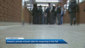 Ontario's private schools' plan for reopening in the fall (04:24)