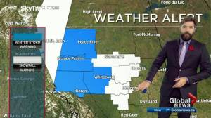 Edmonton afternoon weather forecast: Friday, November 8, 2019