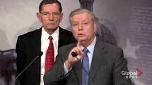Republican senator Lindsey Graham slams Schiff's closing summary in Trump impeachment trial
