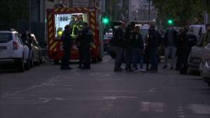 Emergency services on scene after priest shot and injured in Lyon, France (01:39)