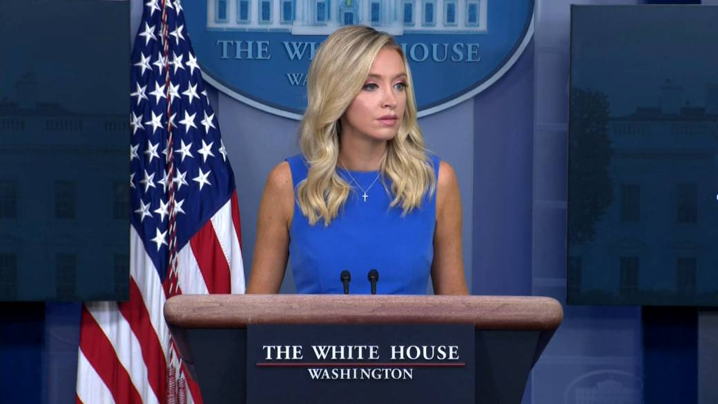 Click to play video 'Kayleigh McEnany says 'there is ample evidence of fraud' via mail-in voting