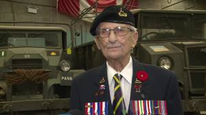 Second World War veteran shares his story on Remembrance Day (11:20)