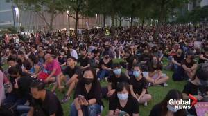 Thousands gather to mark fifth anniversary of Hong Kong's Umbrella movement (01:14)