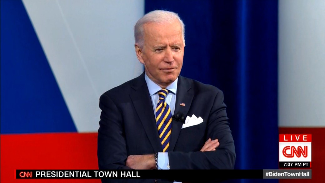 Click to play video 'Biden describes life at the White House 4 weeks into presidency'