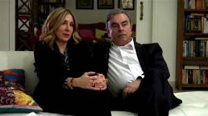 Carlos Ghosn's wife on life in Lebanon: 'At least here he's free'