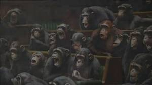 Banksy's chimps in British parliament up for auction amid Brexit