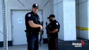 Toronto police respond to reports of gunshots inside Yorkdale Mall (03:21)