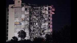 Florida rescue crews continue search after condo building partially collapses (03:53)