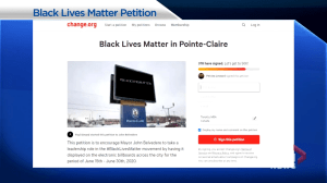 "Grassroots movement aims to have ""Black Lives Matter"" light up Pointe-Claire billboard"