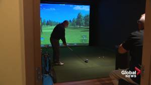 Indoor golf popular as winter weather arrives in Edmonton (02:14)