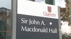 Queen's University in Kingston decides to drop Sir John A Macdonald's name on Law School building (02:39)