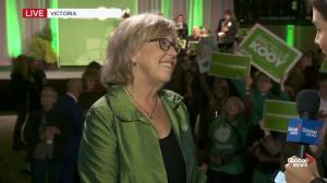 Federal Election 2019: Green Party Elizabeth May reacts to minority Liberal government