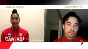 Miranda Ayim, Nathan Hirayama named Canada's flag-bearers for Tokyo Olympics (00:34)
