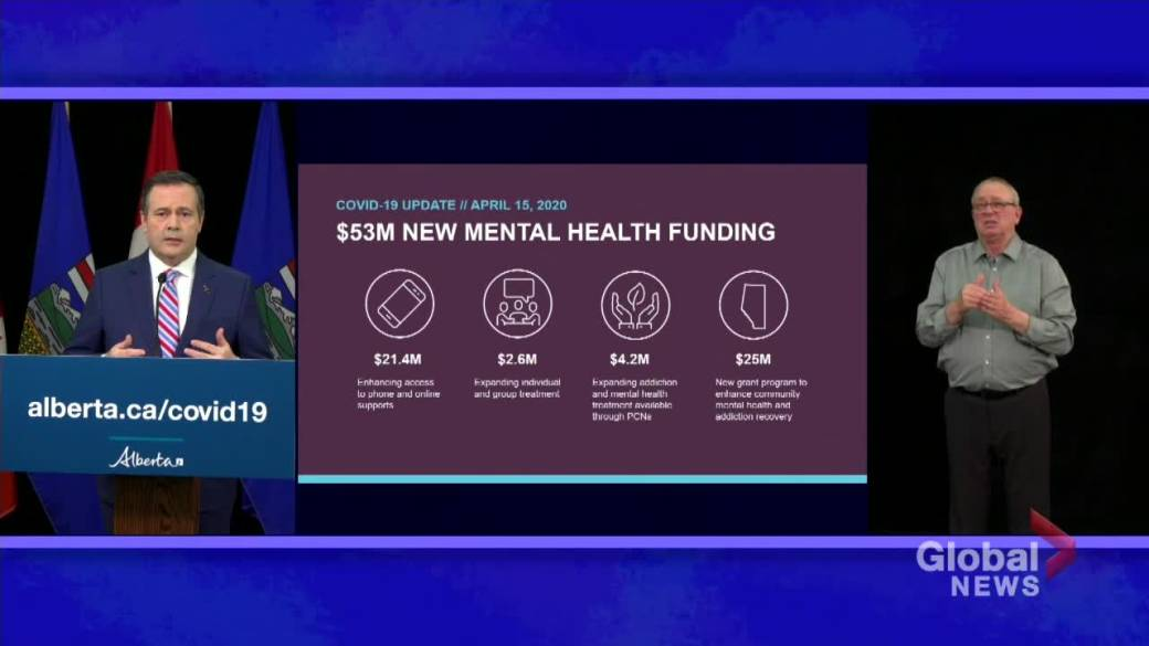 Kenney Pledges 53m In Mental Health Funding As Alberta Sees No New Covid 19 Deaths Globalnews Ca