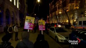 U.K. Election: Anti-Johnson protesters demonstrate outside Downing Street