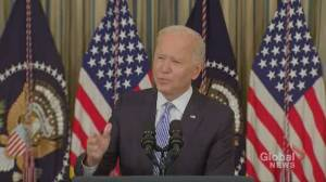 Biden says border agents on horseback seen in video whipping migrants will face consequences (00:32)