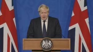 COVID-19: Boris Johnson reverses course on vaccine passports for England, announces UK booster program (05:14)