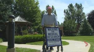 99-year-old WWII veteran in Newmarket walking 100 kilomentres for COVID-19 medical research