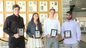 Kingston high school graduates receive bursary awards from the Sports Hall of Fame