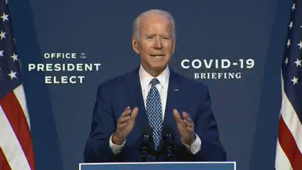 Click to play video 'Biden moves ahead with transition of power plans'