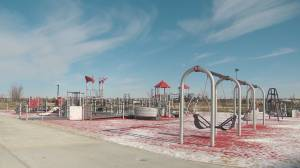 Inclusive playground now open in northeast Edmonton (01:40)