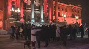Vigil at Alberta legislature honours local victims of Iran plane crash