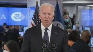 Hurricane Ida: Biden says storm has made landfall, is 'life-threatening' (04:46)
