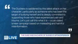 Meghan Markle responds to report she allegedly bullied aides (04:49)
