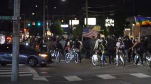 Portland protests: Police declare riot as protesters set fires on 72nd night of unrest