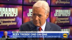 'Jeopardy!' host Alex Trebek says he needs more chemotherapy