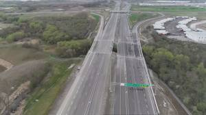 Brand new Highway 427 extension in Vaughan sits unused (01:57)