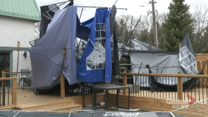 Play video: Pickering business facing major damage following severe wind storm