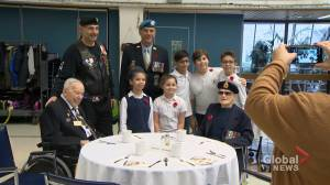 Students connect with veteran history