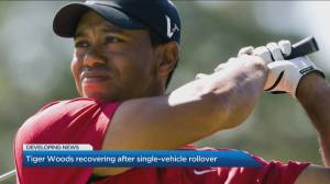 The latest on Tiger Woods' condition after a serious car accident sent him to hospital (03:07)