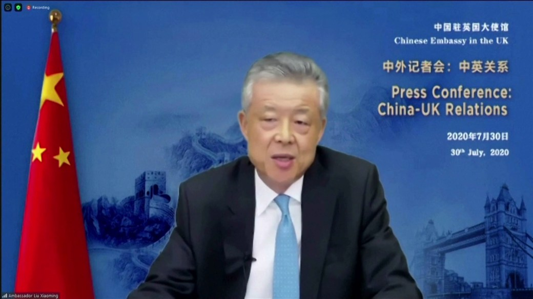 Click to play video 'China says U.K. has 'poisoned' relations'