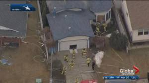 1 dead after fire at boarded-up house in west Edmonton (01:36)