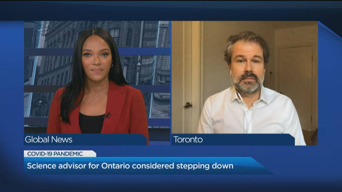 Click to play video: 'Scientific director of the Ontario COVID-19 Science Advisory Table shares concerns about recent restrictive measures'