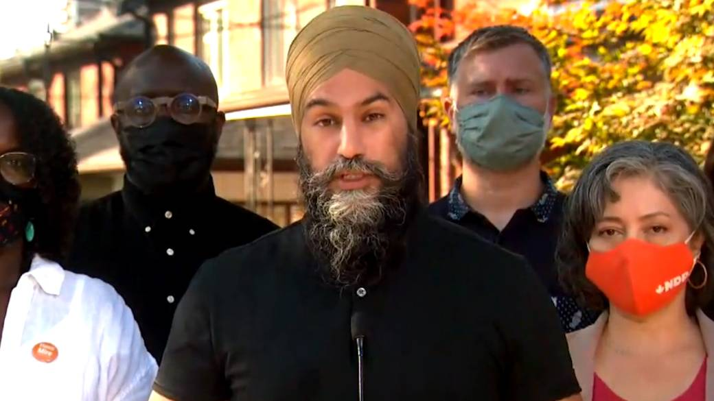 Click to play video: 'Canada election: Singh says NDP will 'fight' for Alberta amid COVID-19 state of emergency'