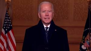 'Because of you, democracy has prevailed': Biden addresses U.S. following inauguration (02:53)