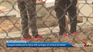 Suspect arrested after syringes left outside midtown Toronto school: police