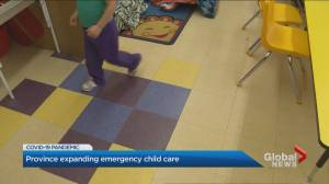 Ontario government expands emergency child care