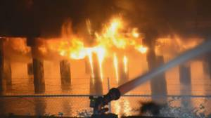 Suspect arrested in New Westminster Pier Park fire