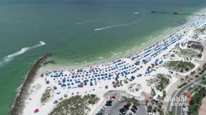 Coronavirus: Floridians hit the beach amid record COVID-19 spike