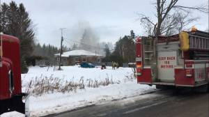 2 sent to hospital after house fire just east of Peterborough