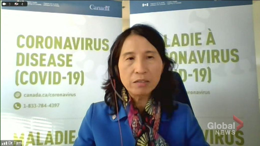 Click to play video: 'Current COVID-19 vaccine coverage leaves Canadians 'better protected' heading into winter, Tam says'