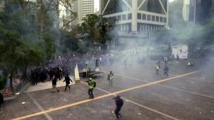 Hong Kong police fire tear gas to disperse latest round of protests