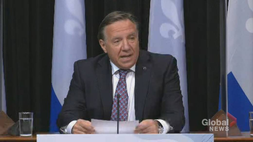 Click to play video: 'COVID-19: Legault says all of Quebec will move into yellow zone on Monday'
