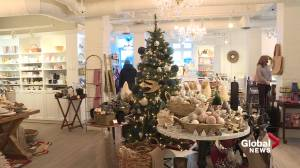 COVID-19: Edmonton retailers urge local support during holiday season (01:45)