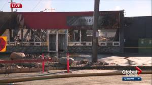 Edmonton charity devastated after fire guts its thrift shop and operating space (02:09)